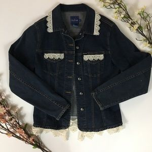 Faconnable Upcycled Denim Jacket